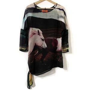 Clover Canyon Icelandic Horse Sheer Tunic Top